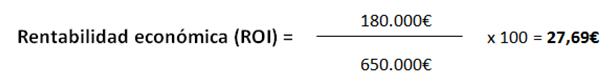 ROI fórmula