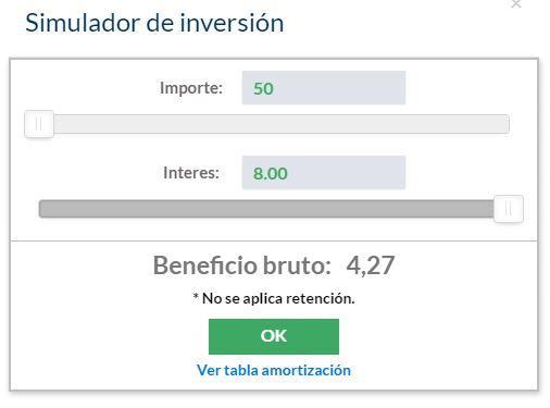 Simulador de inversiones rentabilidad