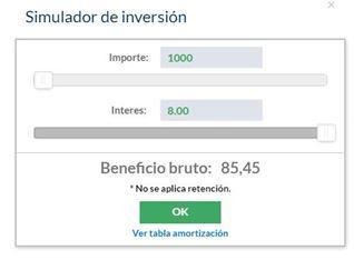 Simulador inversión