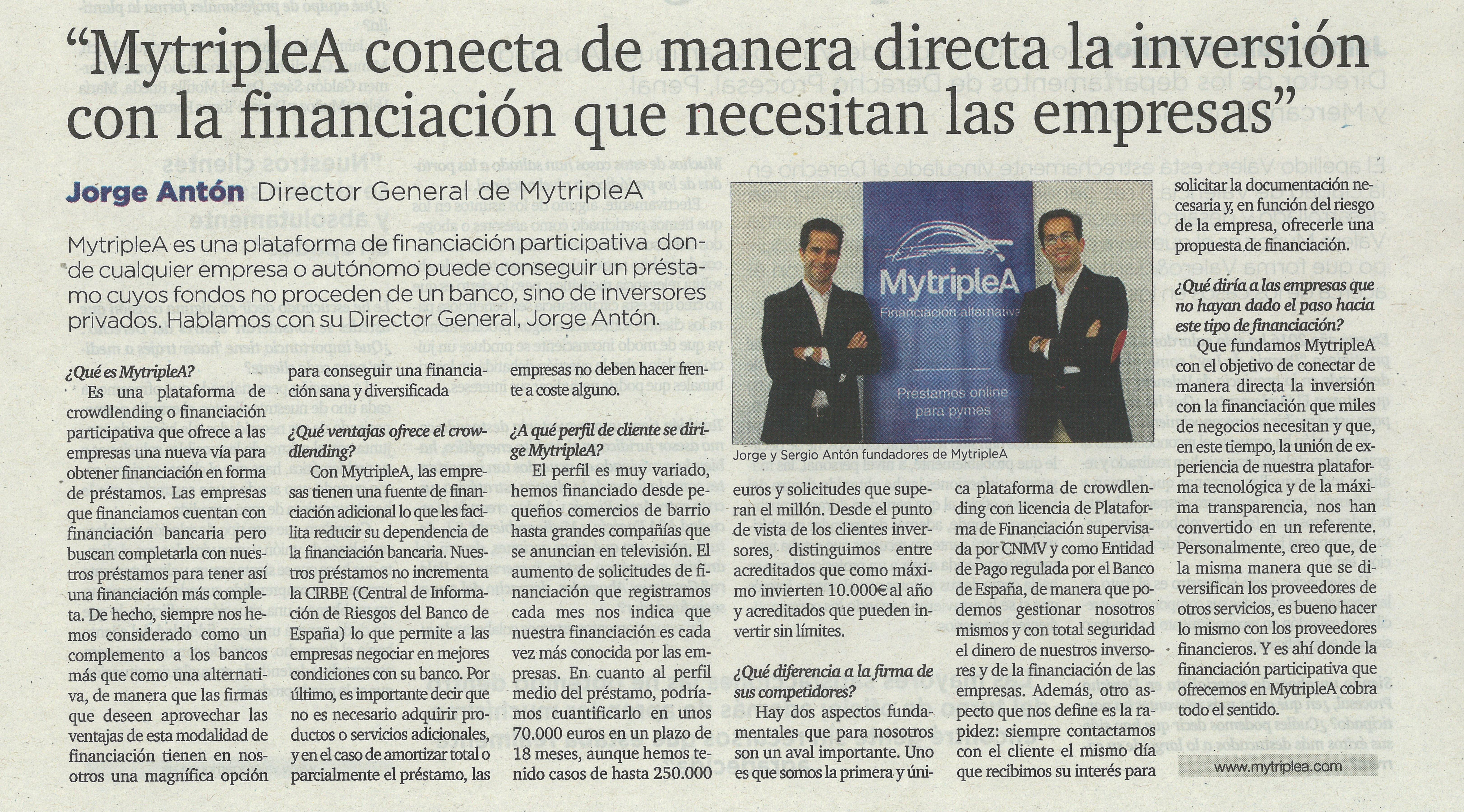 Entrevista en El Mundo MytripleA