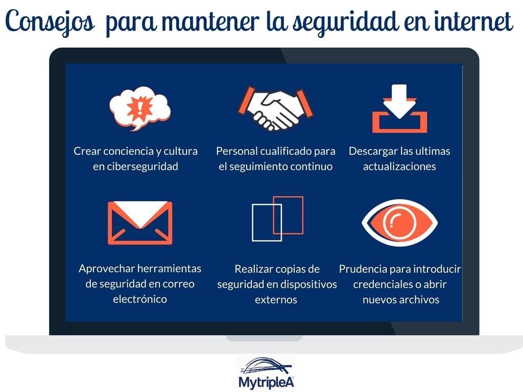 Infografía seguridad en internet