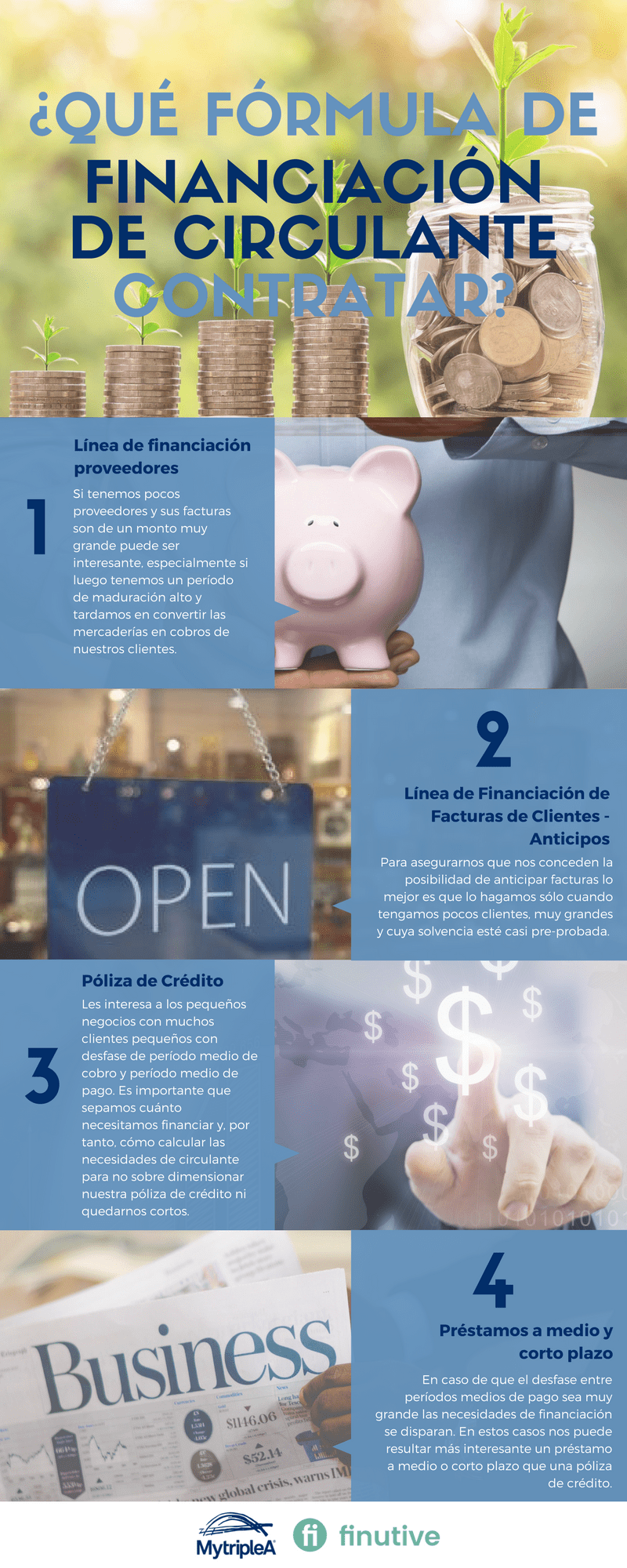 Infografía formas de financiación de circulante